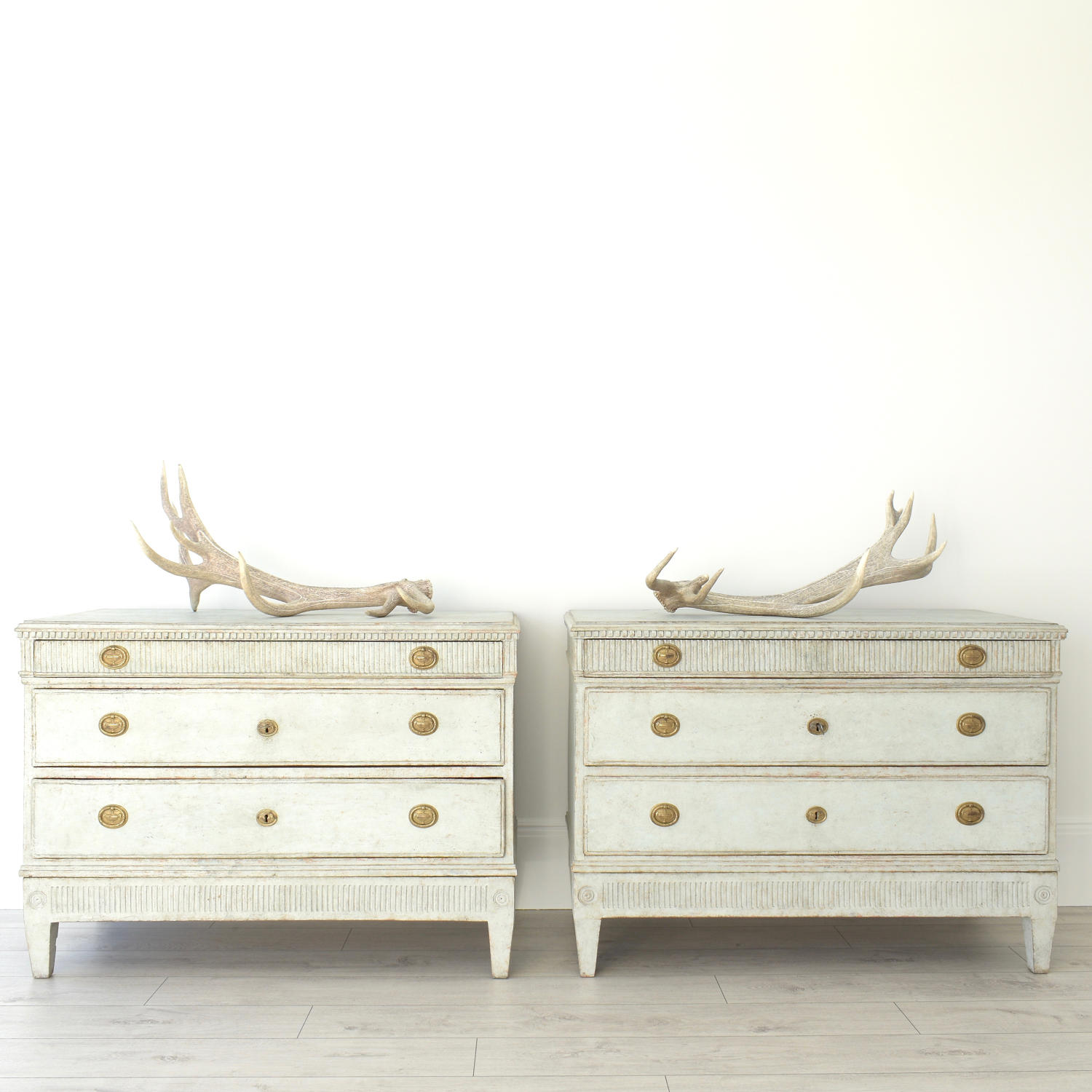 MAGNIFICENT PAIR OF RARE SWEDISH GUSTAVIAN PERIOD CHESTS