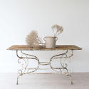 GRAND SCALE 19TH CENTURY FRENCH GARDEN TABLE - picture 1