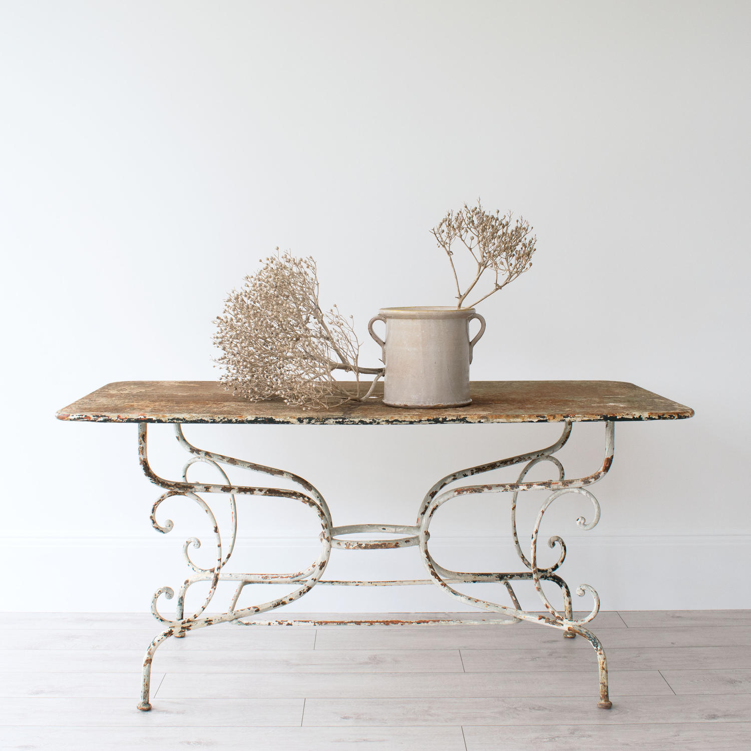 GRAND SCALE 19TH CENTURY FRENCH GARDEN TABLE