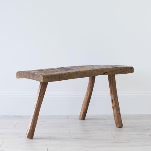 PRIMITIVE FRENCH CHESTNUT BENCH COFFEE TABLE