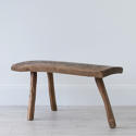 PRIMITIVE FRENCH CHESTNUT BENCH COFFEE TABLE - picture 2