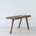 PRIMITIVE FRENCH CHESTNUT BENCH COFFEE TABLE - picture 4