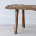 PRIMITIVE FRENCH CHESTNUT BENCH COFFEE TABLE - picture 5