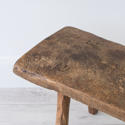 PRIMITIVE FRENCH CHESTNUT BENCH COFFEE TABLE - picture 6
