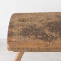 PRIMITIVE FRENCH CHESTNUT BENCH COFFEE TABLE - picture 7