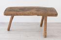 PRIMITIVE FRENCH CHESTNUT BENCH COFFEE TABLE - picture 8