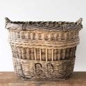 VERY LARGE FRENCH WICKER CHAMPAGNE BASKET - picture 1