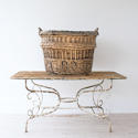 VERY LARGE FRENCH WICKER CHAMPAGNE BASKET - picture 2