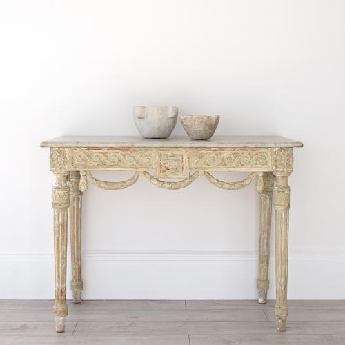 EXQUISITE LOUIS XVI PERIOD CONSOLE IN ORIGINAL PAINT