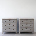 PAIR OF RICHLY CARVED GUSTAVIAN STYLE CHESTS - picture 3