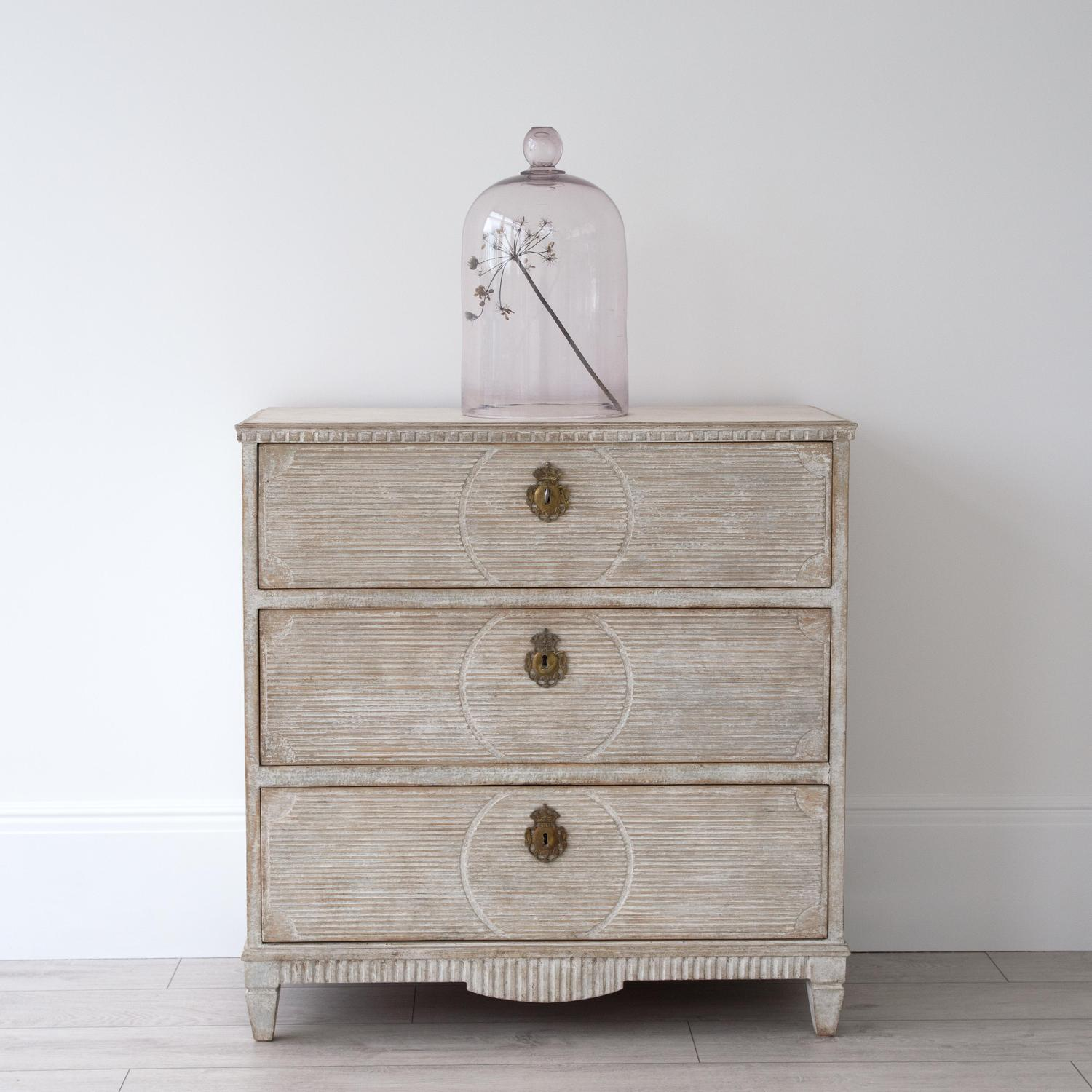 LATE 19TH CENTURY SWEDISH GUSTAVIAN CHEST