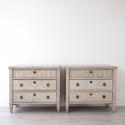 FINE PAIR OF LATE 19TH CENTURY GUSTAVIAN STYLE CHESTS - picture 2