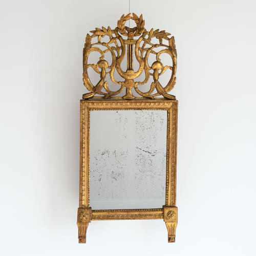 EXTRAORDINARY LOUIS XVI PERIOD MERCURY GLASS MIRROR