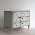 SWEDISH BLUE GUSTAVIAN STYLE BREAK FRONT CHEST - picture 1