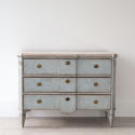 SWEDISH BLUE GUSTAVIAN STYLE BREAK FRONT CHEST - picture 2