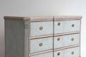 SWEDISH BLUE GUSTAVIAN STYLE BREAK FRONT CHEST - picture 4
