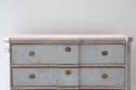SWEDISH BLUE GUSTAVIAN STYLE BREAK FRONT CHEST - picture 5