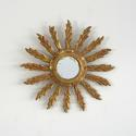VINTAGE FRENCH FEATHER RAY SUNBURST MIRROR - picture 3