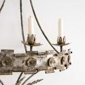 MAGNIFICENT SPANISH METAL CORONA WALL SCONCE - picture 2