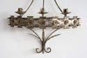 MAGNIFICENT SPANISH METAL CORONA WALL SCONCE - picture 3