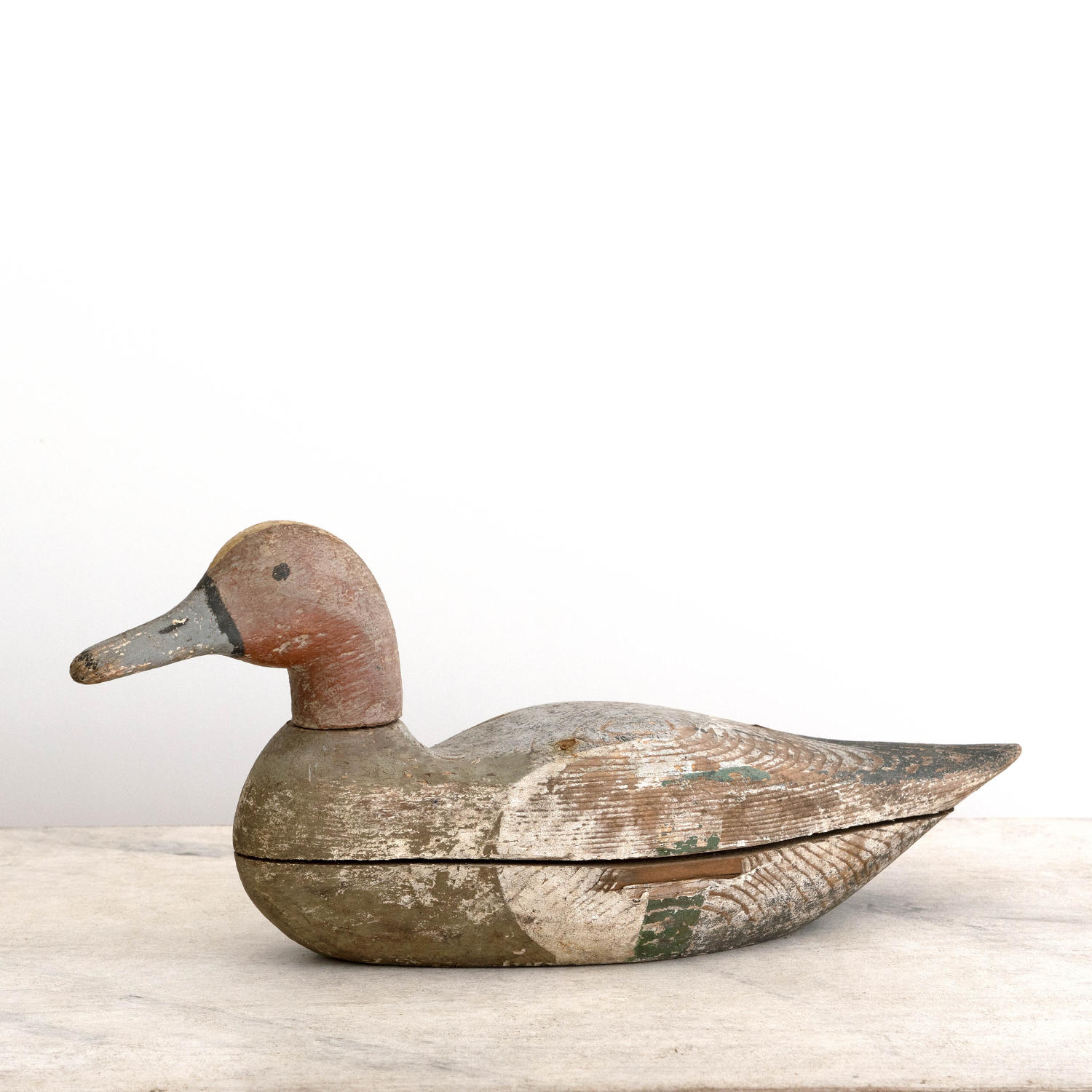 ANTIQUE DECOY DUCK IN GORGEOUS ORIGINAL PATINA