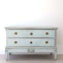 BEAUTIFUL PALE BLUE DANISH GUSTAVIAN PERIOD CHEST - picture 1
