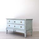 BEAUTIFUL PALE BLUE DANISH GUSTAVIAN PERIOD CHEST - picture 2