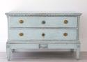 BEAUTIFUL PALE BLUE DANISH GUSTAVIAN PERIOD CHEST - picture 5