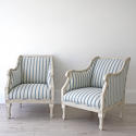 PAIR OF RICHLY CARVED SWEDISH GUSTAVIAN STYLE ARMCHAIRS - picture 1