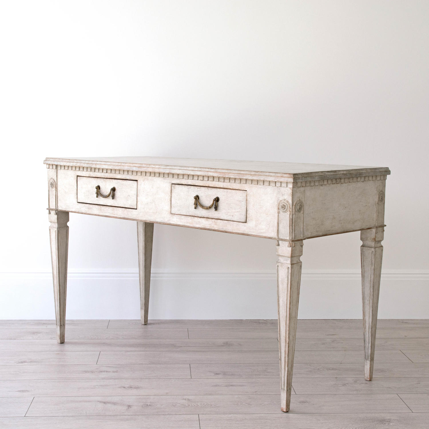 HANDSOME SWEDISH GUSTAVIAN DESK OR CONSOLE TABLE