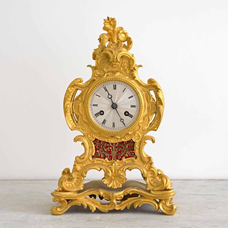 LOUIS XIV STYLE MANTLE CLOCK