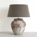 RUSTIC GREY STONE CERAMIC JAR TABLE LAMPS - picture 1