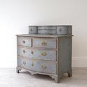 SWEDISH BAROQUE SERPENTINE CHEST WITH DESK SLIDE - picture 1