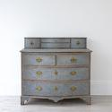 SWEDISH BAROQUE SERPENTINE CHEST WITH DESK SLIDE - picture 2