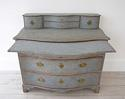 SWEDISH BAROQUE SERPENTINE CHEST WITH DESK SLIDE - picture 3