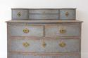 SWEDISH BAROQUE SERPENTINE CHEST WITH DESK SLIDE - picture 5