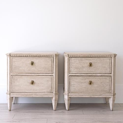 PAIR OF LATE 19TH CENTURY SWEDISH BEDSIDE CHESTS