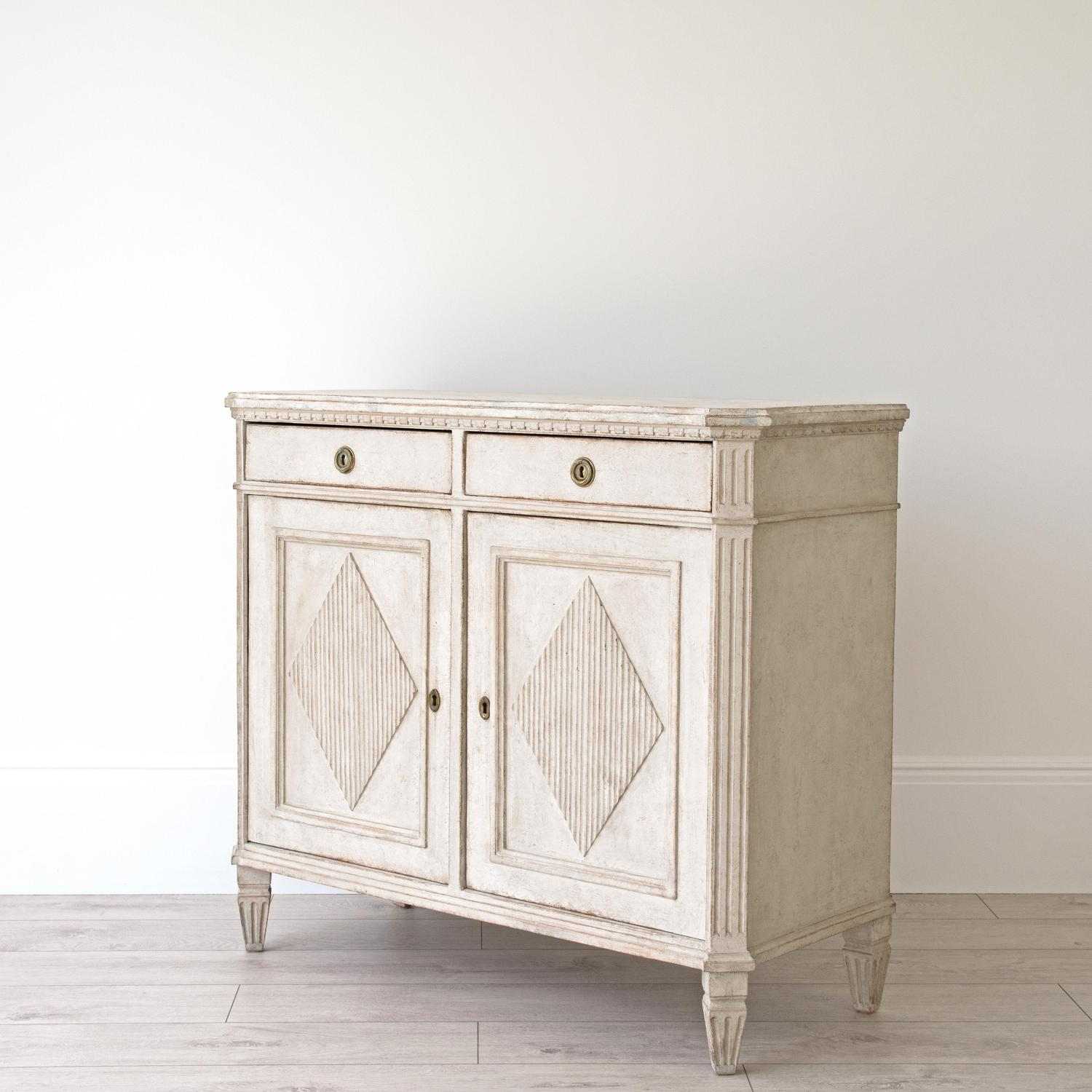 RICHLY CARVED SWEDISH GUSTAVIAN BUFFET