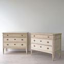 BEAUTIFUL PAIR OF SWEDISH GUSTAVIAN STYLE CHESTS - picture 1
