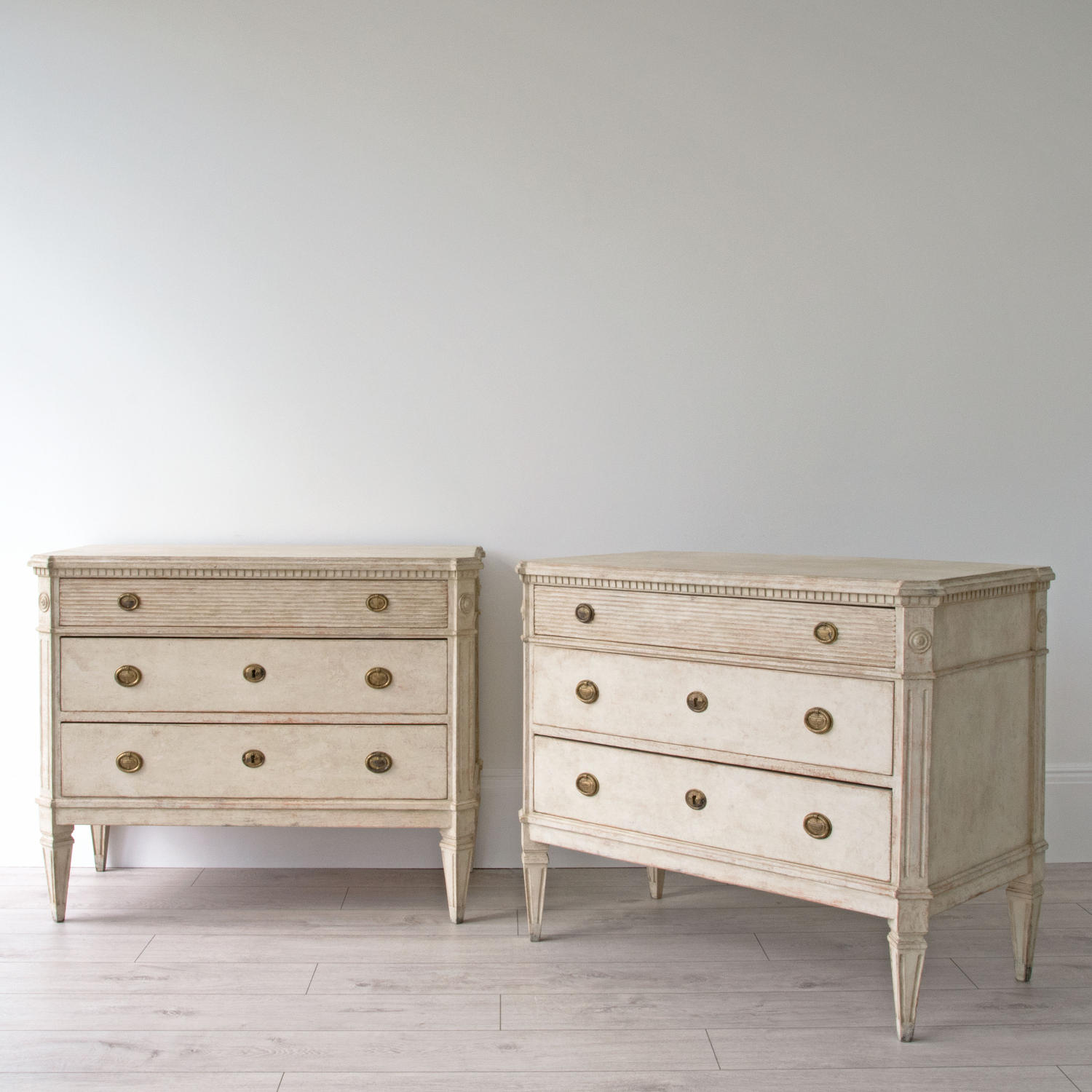 BEAUTIFUL PAIR OF SWEDISH GUSTAVIAN STYLE CHESTS