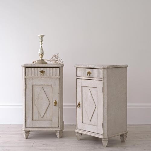 PAIR OF SWEDISH GUSTAVIAN STYLE BEDSIDE CABINETS
