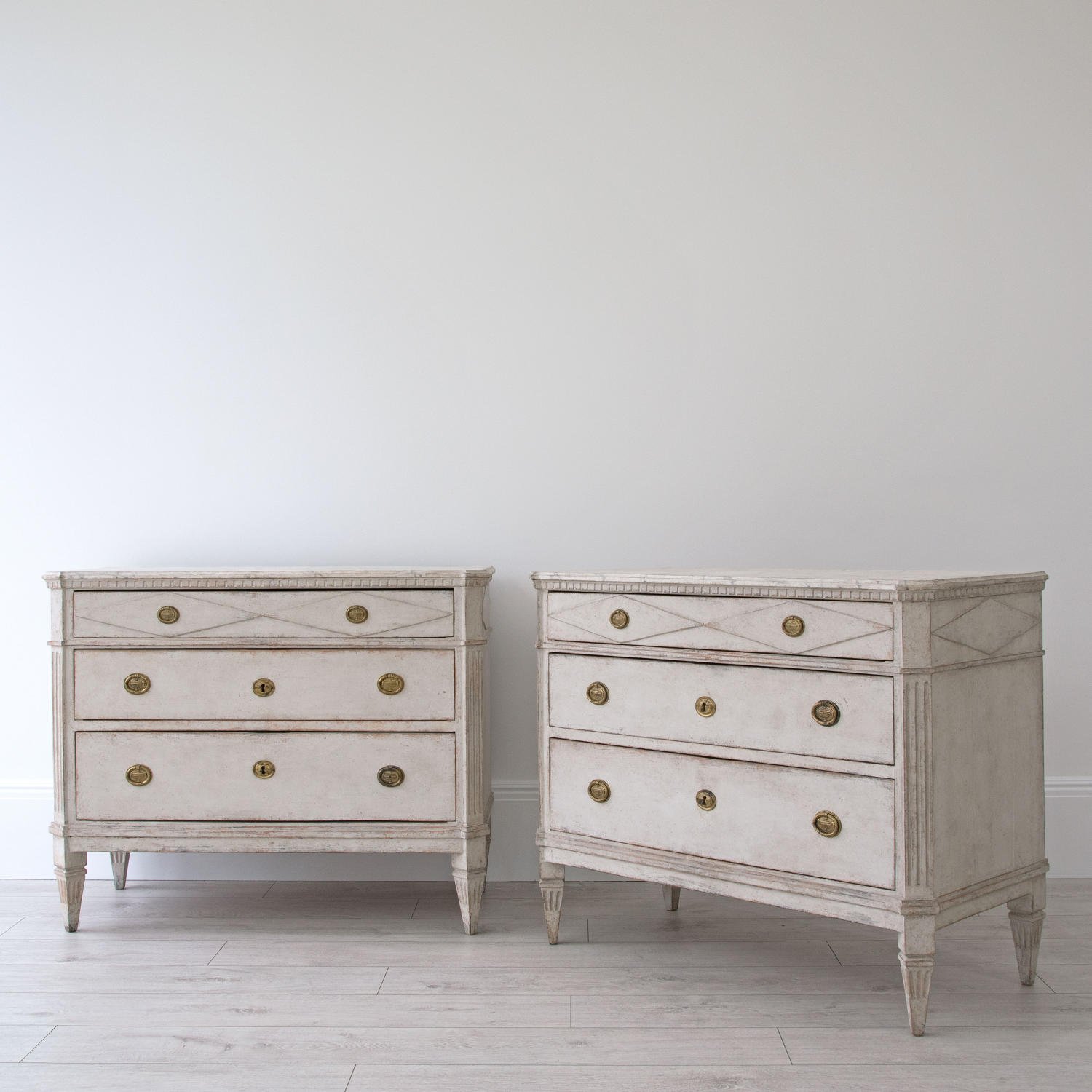 STUNNING PAIR OF SWEDISH GUSTAVIAN STYLE CHESTS
