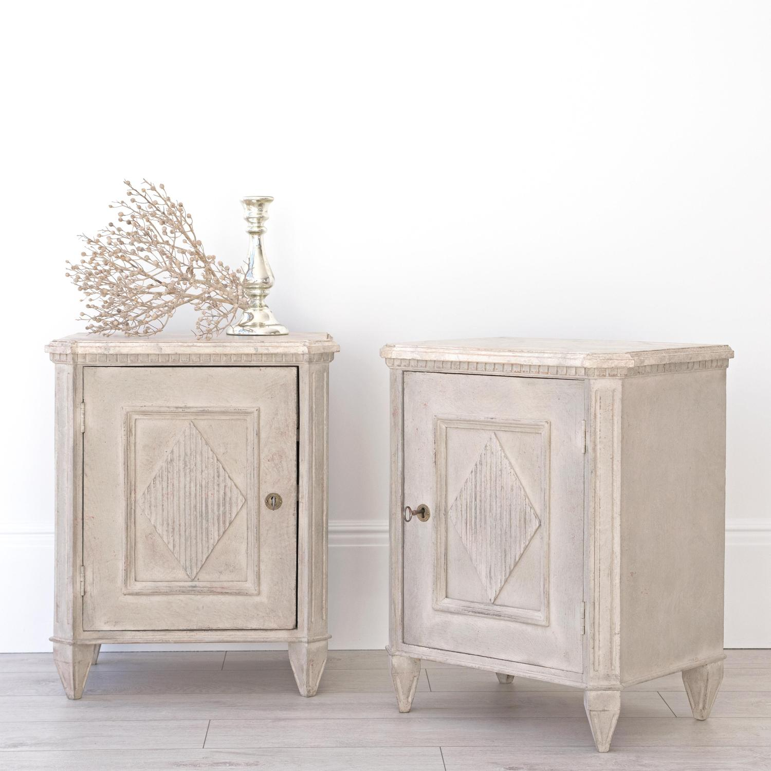 PAIR OF GUSTAVIAN BEDSIDES