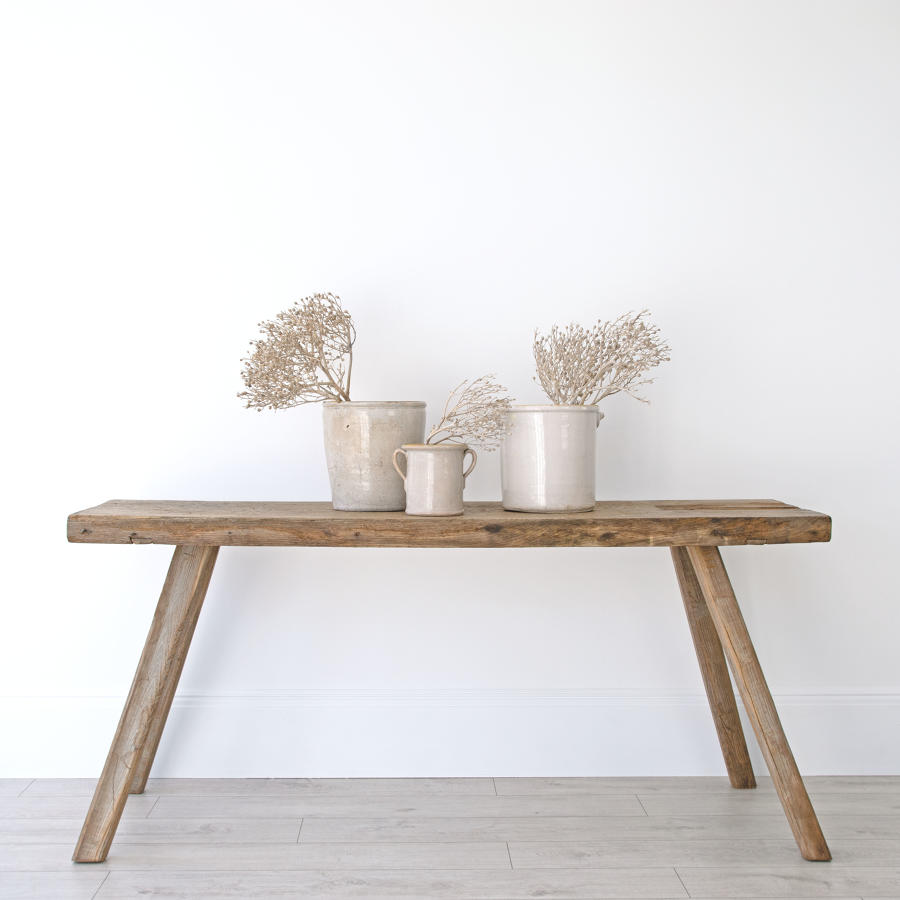 PRIMITIVE CONSOLE TABLE