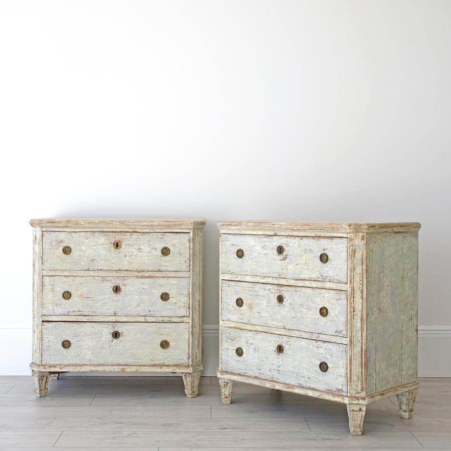 PAIR OF GUSTAVIAN CHESTS