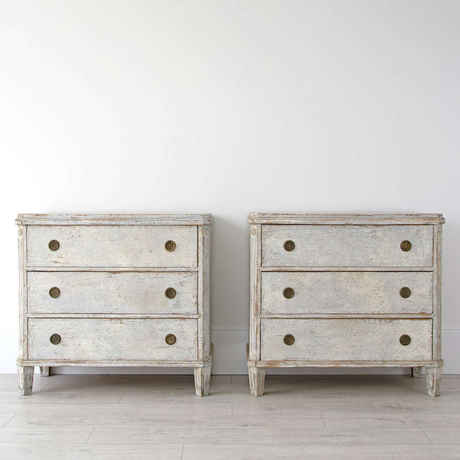 PAIR OF SWEDISH CHESTS