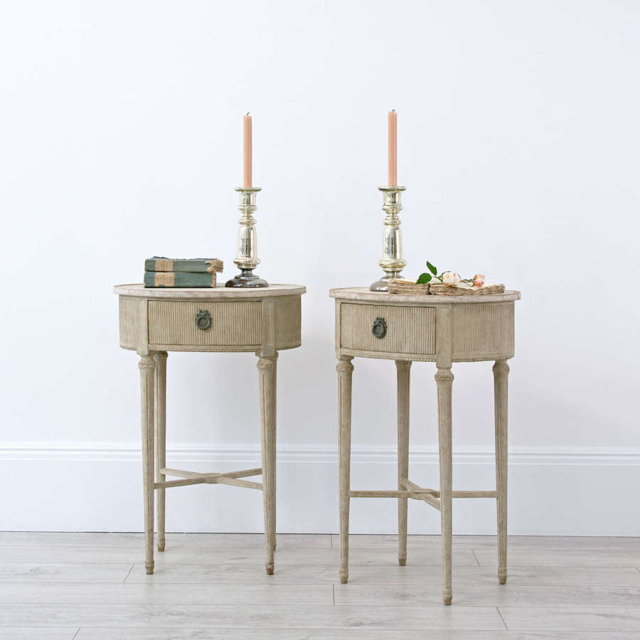 PAIR OF SWEDISH BEDSIDE TABLES