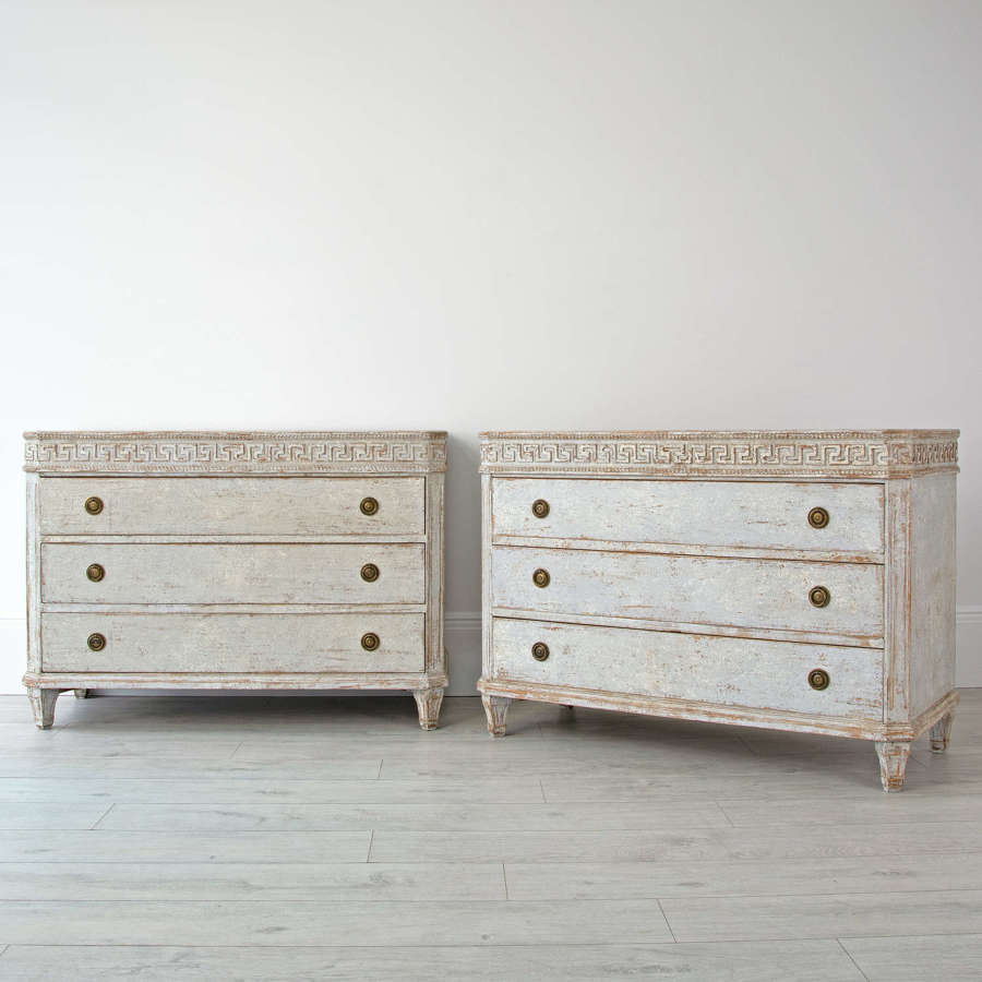 PAIR OF SWEDISH EMPIRE CHESTS